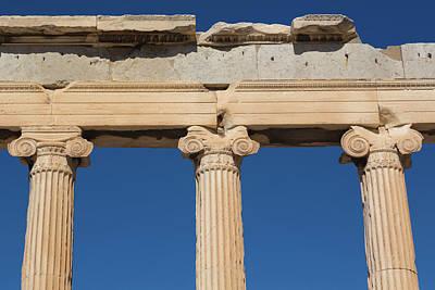 Athens, Attica, Greece. Ionic Capitals Art Print