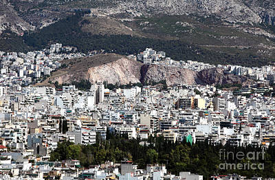 Photograph - Athens Cityscape Vii by John Rizzuto