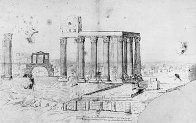 Athens Drawing - Athens Hadrian's Arch by Granger