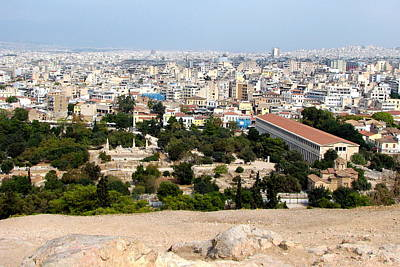 Photograph - Athens View From Mars Hill by Carla Parris