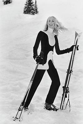 Skiing Photograph - Athlete Suzy Chaffee by Toni Frissell