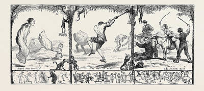 Athletic Drawing - Athletic Sports At Oxford by English School