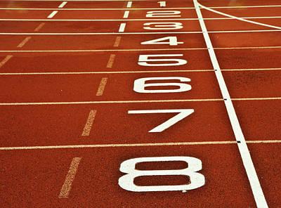Athletics Running Track Start Finish Line Art Print by Matthew Gibson