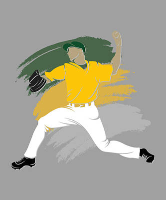 Athletics Shadow Player Art Print by Joe Hamilton