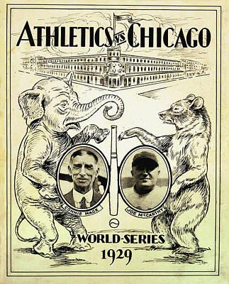 Phillies Digital Art - Athletics Vs Chicago 1929 World Series by Bill Cannon
