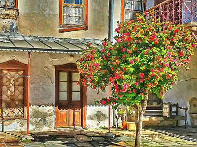 Digital Art - Athos Monastery Greece 15 by Yury Malkov
