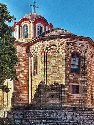 Digital Art - Athos Monastery Greece 21 by Yury Malkov