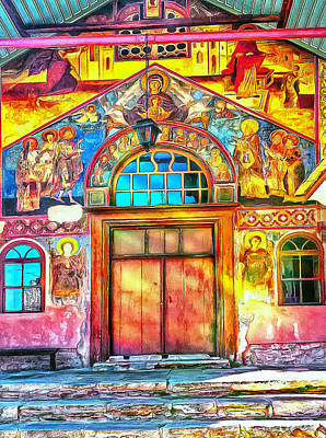 Digital Art - Athos Monastery Greece 24 by Yury Malkov