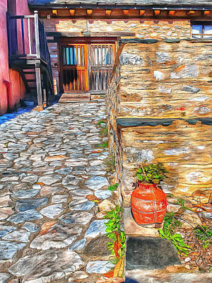 Digital Art - Athos Monastery Greece 25 by Yury Malkov