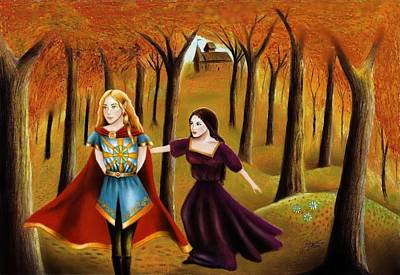 Conversation Mixed Media - Athrabeth Finrod Ah Andreth by Ilias Patrinos