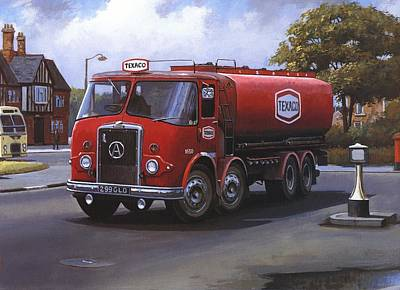 Texaco Wall Art - Painting - Atkinson Tanker by Mike Jeffries