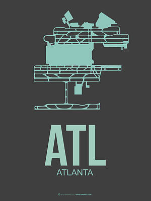 Georgia Digital Art - Atl Atlanta Airport Poster 2 by Naxart Studio