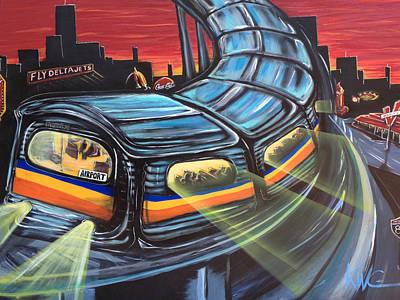 Atlanta City Painting - Atl Southbound  by KWC Art