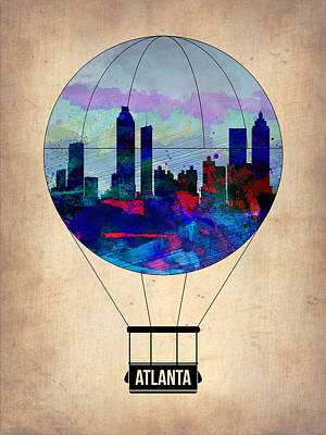 Atlanta Air Balloon  Art Print by Naxart Studio