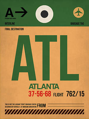 Atlanta Digital Art - Atlanta Airport Poster 1 by Naxart Studio