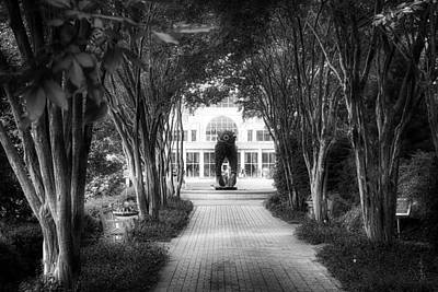 Atlanta Botanical Garden-black And White Art Print