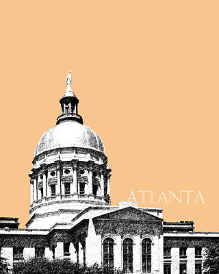 Towers Digital Art - Atlanta Capital Building - Wheat by DB Artist