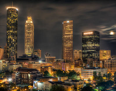 Photograph - Atlanta Centenial Park Night by Anna Rumiantseva