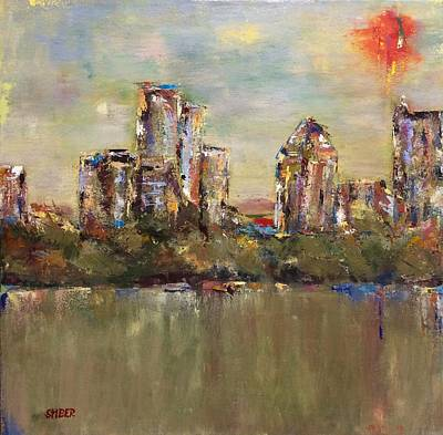 Painting - Atlanta Cityscape by Kathy Stiber