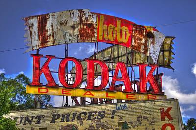 Photograph - Atlanta Classic Kodak Sign Ponce De Leon 2 by Reid Callaway