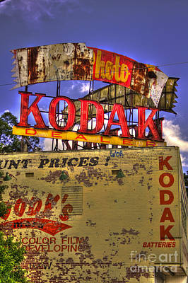Photograph - Atlanta Classic Kodak Sign Ponce De Leon  by Reid Callaway