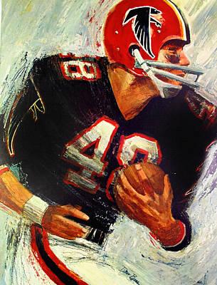 Atlanta Falcons Painting - Atlanta Falcons 1966 Vintage Print by Big 88 Artworks