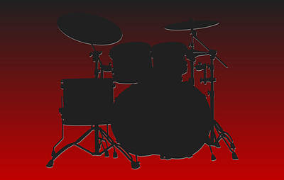 Atlanta Falcons Drum Set Print by Joe Hamilton