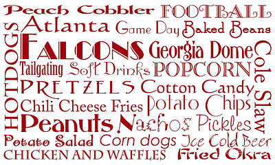 Digital Art - Atlanta Falcons Game Day Food 1 by Andee Design