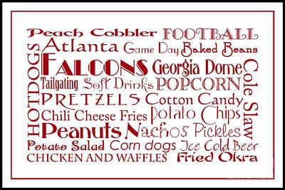Digital Art - Atlanta Falcons Game Day Food 3 by Andee Design