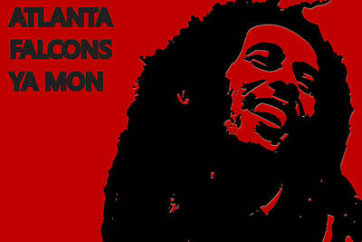 Drum Photograph - Atlanta Falcons Ya Mon by Joe Hamilton