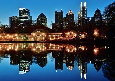 Atlanta From Piedmont Park Art Print by Frozen in Time Fine Art Photography