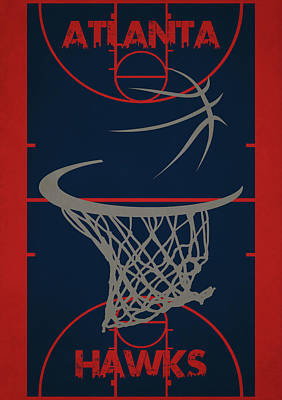 Atlanta Hawks Photograph - Atlanta Hawks Court by Joe Hamilton