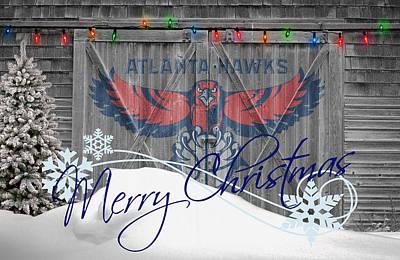 Atlanta Hawks Art Print by Joe Hamilton