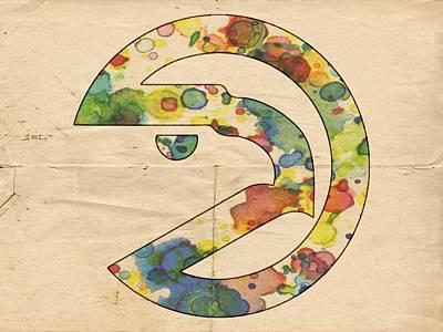 Painting - Atlanta Hawks Logo Art by Florian Rodarte