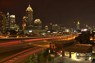 High School Of Art And Design Photograph - Atlanta Midtown To Downtown by Reid Callaway