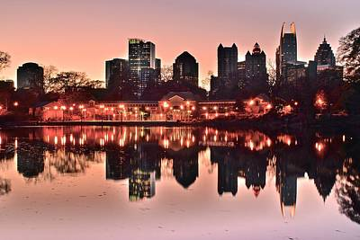 Water St Chicago Photograph - Atlanta Piedmont Pink by Frozen in Time Fine Art Photography