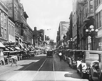 Photograph - Atlanta Shopping District by Underwood & Underwood