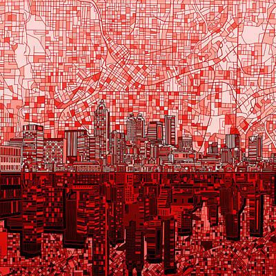 Atlanta Skyline Abstract 4 Art Print