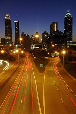 Photograph - Atlanta Skyline At Night by Willie Harper