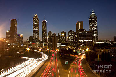 Atlanta Skyline - Jackson St Bridge Art Print