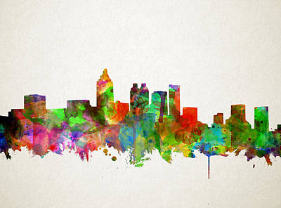 Painting - Atlanta Skyline Watercolor by Bekim Art