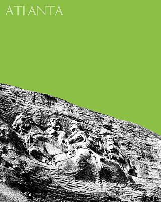 Pen Digital Art - Atlanta Stone Mountain Georgia - Apple Green by DB Artist