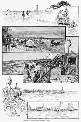 Northeast Drawing - Atlantic City, 1883 by Granger