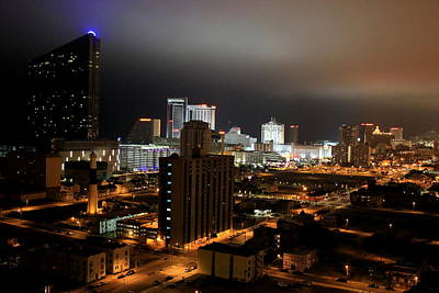 Photograph - Atlantic City At Night by Deborah  Crew-Johnson