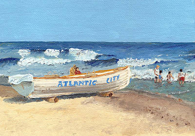 Jersey Shore Painting - Atlantic City Beach by Arch