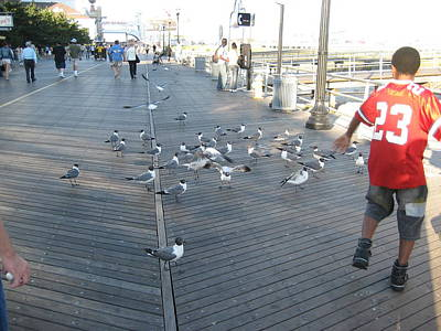 Atlantic City - Boardwalk - 12125 Art Print by DC Photographer