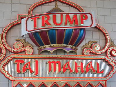Atlantic City - Trump Taj Mahal Casino - 12121 Art Print by DC Photographer