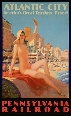 Absinthe Painting - Atlantic City by Vintage Images