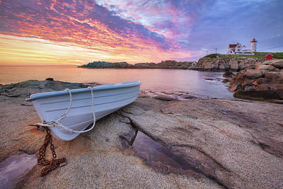 Red Cliff Photograph - Atlantic Dawn by Eric Gendron
