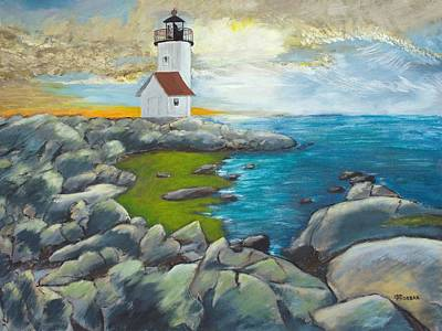 Painting - Atlantic Dusk by Cynthia Morgan
